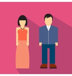 Man and woman flat icon vector