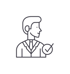 manager line icon concept manager linear vector image
