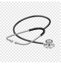 medical stethoscope mockup realistic style vector image