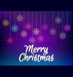 merry christmas background with multi-colored vector image