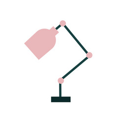 office desk lamp isolated icon vector image