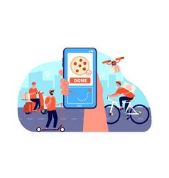 online food delivery restaurant order service vector image