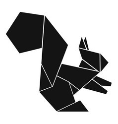 Origami squirrel icon simple black style vector