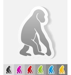 Realistic design element monkey vector