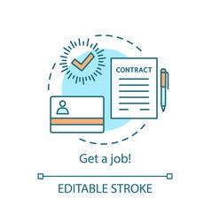 Recruitment concept icon vector