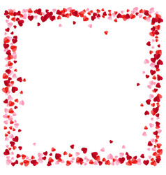 red and pink paper hearts frame background hearts vector image