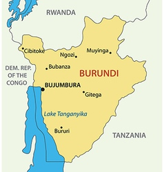 Republic of Burundi - map vector image