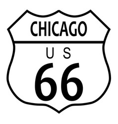 Route 66 chicago vector