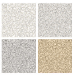 seamless pattern of gray clover vector image