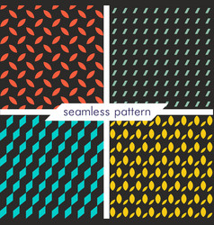 set of four seamless geometrical patterns 19 vector image vector image