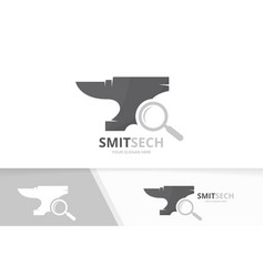 Smith and loupe logo combination vector