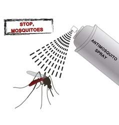 Spray anti mosquitoes Anti mosquito vector