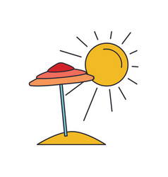 summer beach icon cartoon style vector image