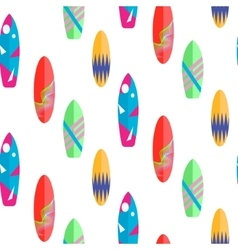 Surfboard seamless pattern Multicolor vector image