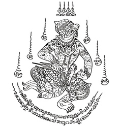 Tattoo Thai Style 2 vector image