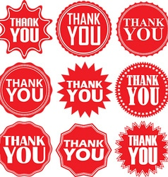 Thank you red label Thank you red sign Thank you vector image
