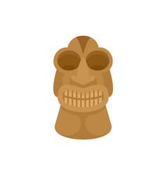 Tiki idol hawaii icon flat style vector