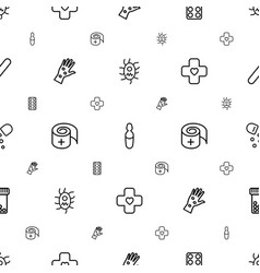 Treatment icons pattern seamless white background vector