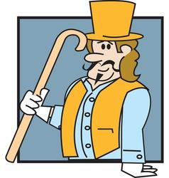 Victorian man vector