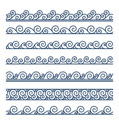 Wave borders vector image