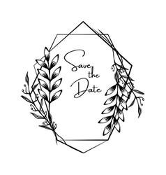 wedding invite invitation save the date vector image