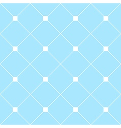White Square Diamond Grid Light Blue Background vector image