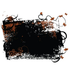 butterfly grunge vector image vector image
