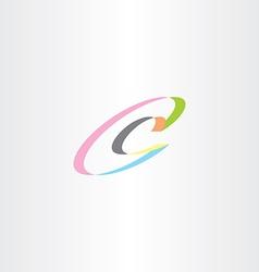 c letter logotype c icon logo symbol element vector image vector image