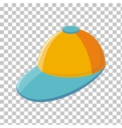 Color Cap Isolated in Transparent Background vector image vector image