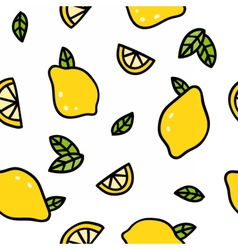Cute lemons on a white background vector