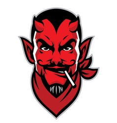 devil rider head mascot vector image vector image