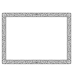 flower abstract black frame isolated vector image vector image