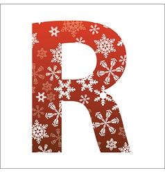 R Letter vector image vector image