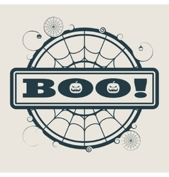 Stamp with Boo text vector image
