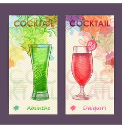 Artistic decorative cocktail poster vector image vector image