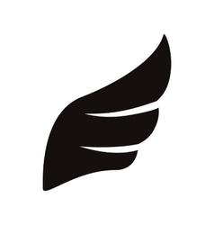 Black wing icon simple style vector image vector image
