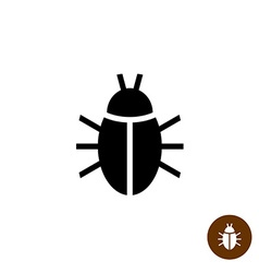 Bug black silhouette icon Insect simple symbol vector image