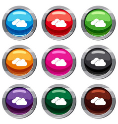 clouds set 9 collection vector image vector image