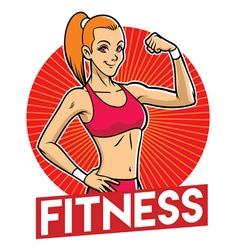 girl gym mascot vector image vector image