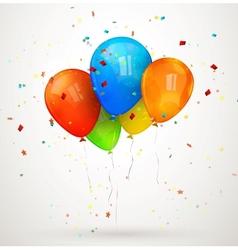 holiday balloons vector image vector image