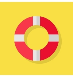 Lifebuoy Icon on Yellow vector image