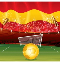 soccer cartoon vector image vector image