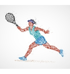 tennis abstract player vector image vector image