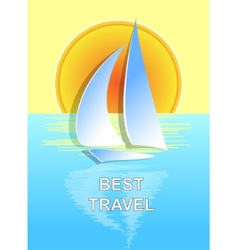 The boat on the sea best travel vector image
