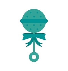 baby toy rattle icon vector image