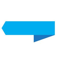 blue ribbon banner on white background blue vector image vector image
