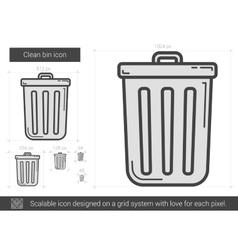 Clean bin line icon vector