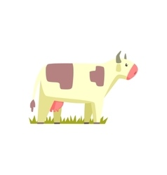 Cow Toy Farm Animal Cute Sticker vector image