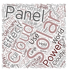 Effects Of Clouds On A Solar Panel text background vector image vector image