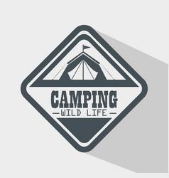 camping outdoor adventure logo vector image